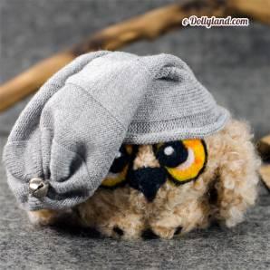 Игрушка сова, сухое валяние