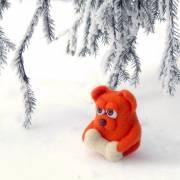 Dollyland. Рыжий пёс (скульптурный войлок)