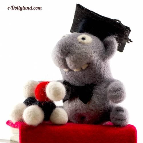 Dollyland. Кот учёный (скульптурный войлок).