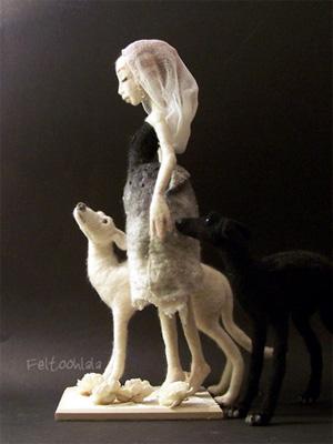 Лоранс БЕРЖО ВЕРЭБ (Laurence Bergeot Veréb). Скульптурный войлок.