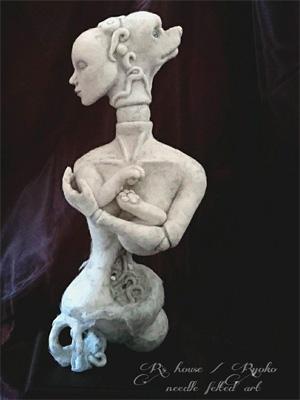 Рёко (Ryoko). Скульптурный войлок.