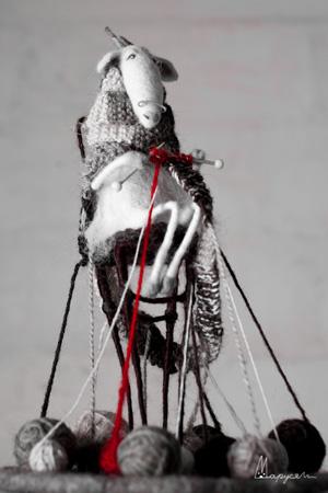 Мария НОВОКРЕЩЕНОВА. Скульптурный войлок.