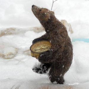 Динни ПОКОК (Dinny Pocock). Скульптурный войлок.